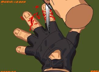 Le jeu du couteau